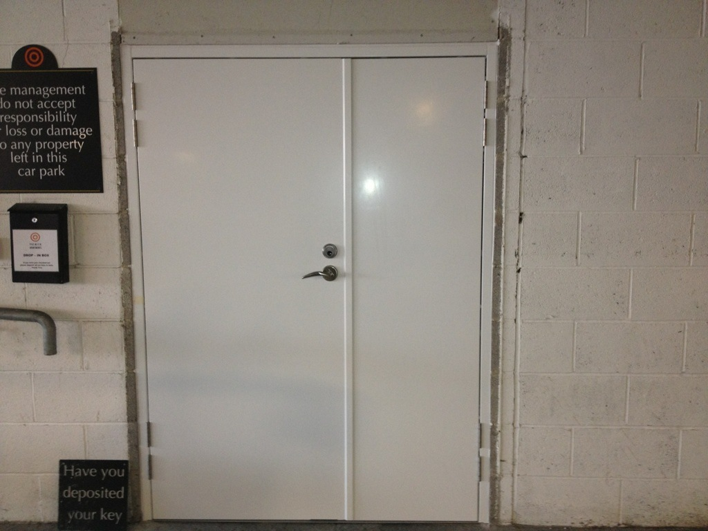 Communal entrance doors with steel frames for Entrance doors
