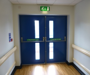 Metal Fire Exit Doors With Steel Frames