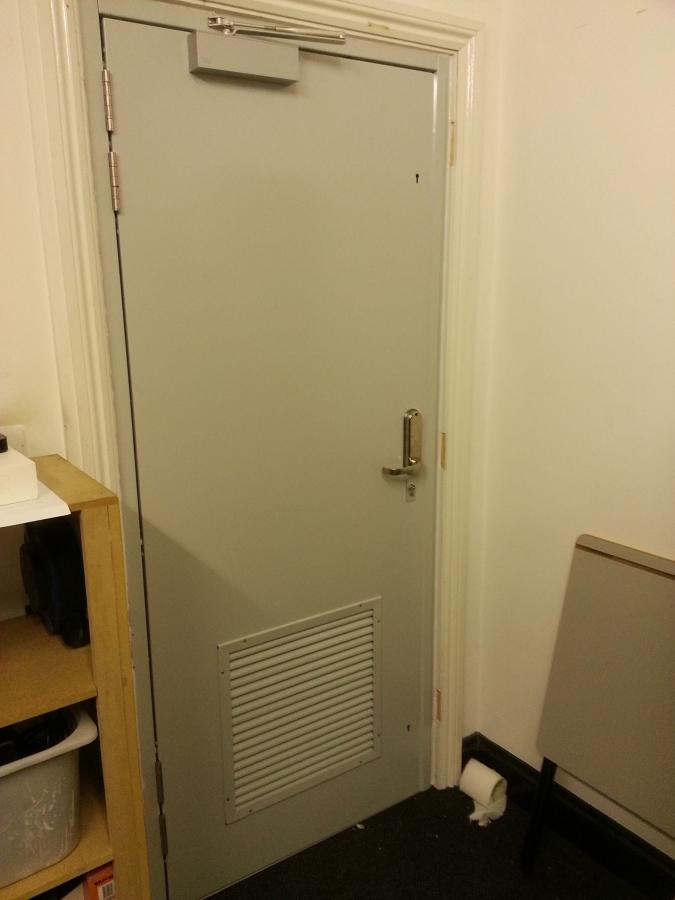 Fire Rated Server Room Door - School Carshalton