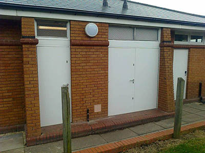 Security Fire Exit Doors - Annesley Parish Hall