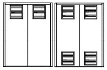 Double Security Door Louvered Panel