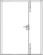 Steel Security Door Leaf & Half