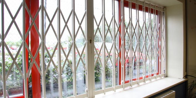 Retractable Sliding Window Grilles